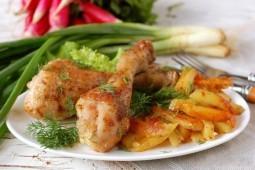 Деревенская картошка с курицей