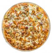 Пицца с копчёной курочкой, 24 см.