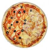 Пицца ветчина с грибами, 24 см.