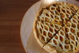 Пирог брусничный