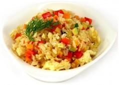 Рис с овощами вегетарианский, 100 гр.