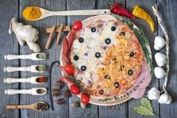 Пицца Солянка-Ветчина с грибами, 32 см.