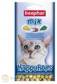 Beaphar Happy Rolls Mix с креветками, сыром и кошачьей мятой