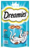 Dreamies Лакомые подушечки со вкусом лосося, 60 гр.
