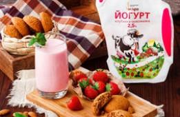 Йогурт питьевой клубника-земляника 2,5 %, 0,6 л.