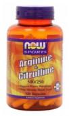 NOW Arginine 500mg & Citrulline 250 mg.