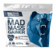 MAD MASS GAINER Клубника, 2 кг.