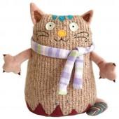Мягкая игрушка Кот Котейка, 15 см., розовый