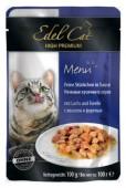 Edel Cat нежные кусочки в соусе лосось и форель, 100 гр.