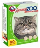 Витамины Доктор Зоо для кошек Со вкусом печени, 90 т.