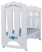 Кровать детская LITTLE HEART колесо-качалка