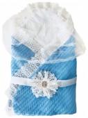 Конверт-одеяло вязанный на выписку