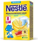 Каша Nestle молочная Мультизлаковая банан и земляника