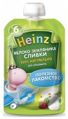 Пюре Heinz в пауче яблоко-земляника с 6 месяцев, 90 г, 1 шт.