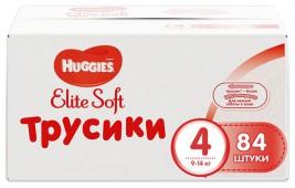 Трусики-подгузники Huggies Elite Soft 4, 84 шт, 9-14 кг.