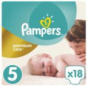 Подгузники Pampers Premium Care 5 размер, 18 шт, 11-18 кг.