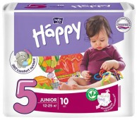 Подгузники Bella Baby Happy Junior, 10 шт, 12-25 кг.