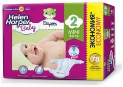 Подгузники Helen Harper Baby Mini, 78 шт, 3-6 кг.